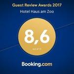 Hotel mit Auszeichnung des Guest Review Award von Booking