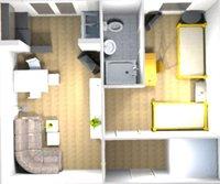 Möbliertes Appartement zur Gartenseite