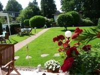 Blick Gartenhaus