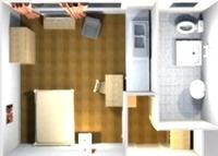 Möblierte Projektwohnung mit Pantryküche