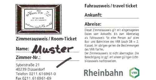 A DüSSELDORF CON AUTOBUS E TRAM: CON IL BIGLIETTO INTEGRATO DEL NOSTRO HOTEL SONO GRATUITI - albergo a dusseldorf