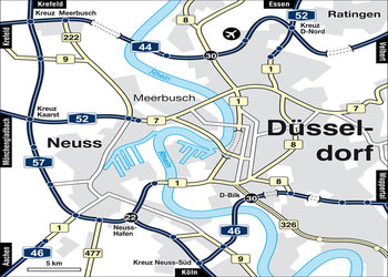 FIND YOUR WAY TO THE HOTEL IN DUSSELDORF - directions locations
